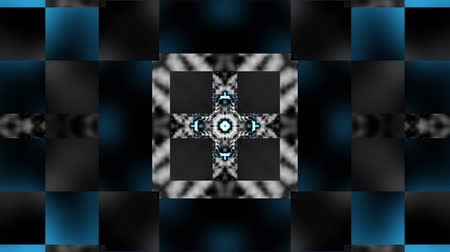 distorsiyon : Moving symmetric geometric texture. Psychedelic transforming background. Looping animated footage.