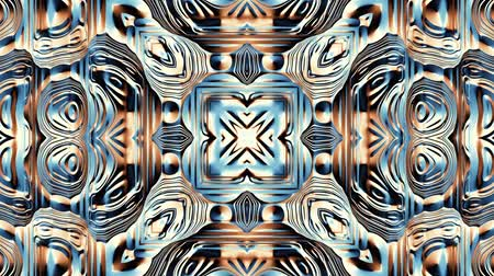 digital art : Transforming symmetric futuristic pattern Looping footage. Stock Footage
