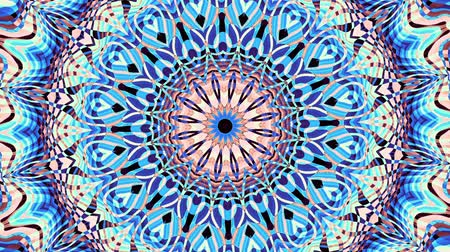 esotérico : Transforming ornamental vintage mosaic art circle. Round ornate ornamental mandala pattern. Seamless loop footage.