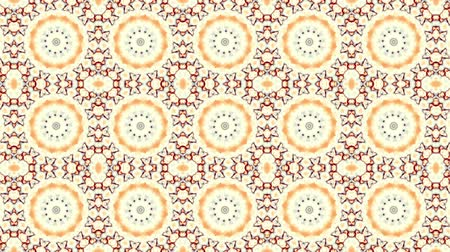 kaleidoskop : Symmetric mosaic tile transforming ornament. Mosaic circles. Abstract footage in Art Nouveau style. Loop footage.