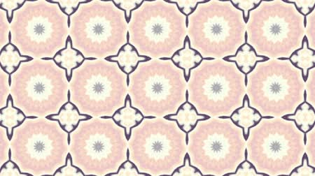 gracioso : Symmetric mosaic tile transforming ornament. Mosaic circles. Abstract footage in Art Nouveau style. Loop footage.