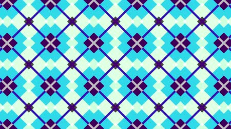 proměna : Transforming geometric shapes. Plaid tile background. Looping footage.