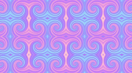 proměna : Transforming spirals tile. Futuristic abstract background. Looping footage.