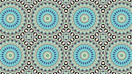 art noveau : Symmetric mosaic tile transforming ornament. Mosaic circles. Abstract footage in Art Nouveau style. Loop footage.