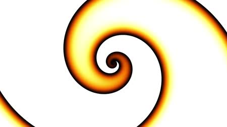 csigavonal : Endless spinning Revolving Spiral. Seamless looping footage. Abstract helix on white background.