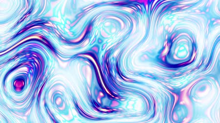düzensiz : Moving random wavy texture. Psychedelic animated background. Transform abstract curved shapes. Looping footage.