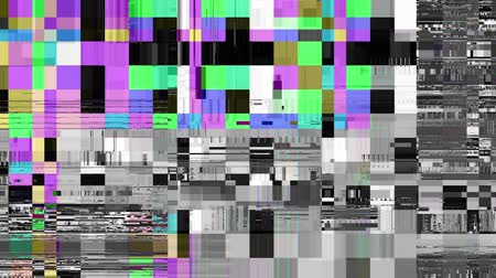 artifacts : Abstract fast flickering texture with artifacts codec. Looping video interference footage. Imitation of a Datamoshing video.