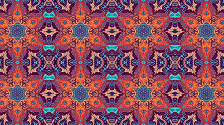 シンメトリック : Symmetric vintage transforming ornament. Animated pattern. Looping footage. 動画素材