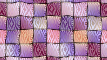 paplan : Wavy moving stirring background with the patchwork pattern. Seamless looping footage.