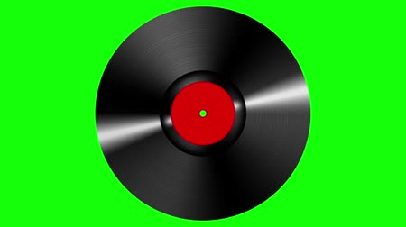 vinyl record : Spinning vinyl discs on green screen background. Seamless looping footage. Stock Footage
