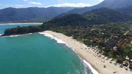 collagepeople : Aerial view on the Beach Summer Day in Brazilian Coastline. Maresias beach.