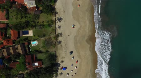 collagepeople : aerial view of the north coast beaches in the state of So Paulo in Brazil.