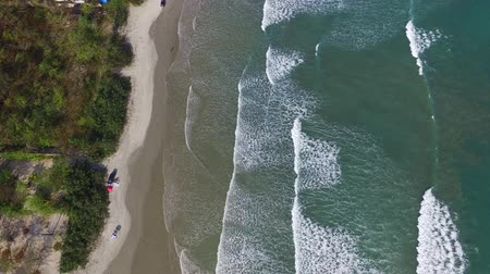 collagepeople : aerial view of the north coast beaches in the state of Sao Paulo in Brazil. Riviera St. Lawrence. Stock Footage
