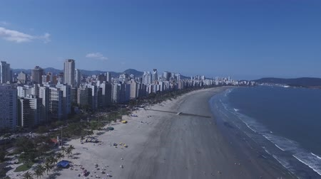 santos : Aerial footage of the city of Santos in Sao Paulo state in Brazil Stock Footage