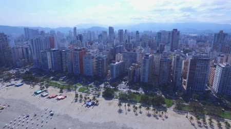 santos : Aerial footage of the city of Santos in Sao Paulo state in Brazil. July, 2016