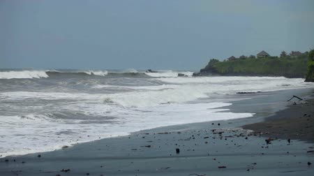 indonesia : Rough sea waters breaking waves on Balinese beach
