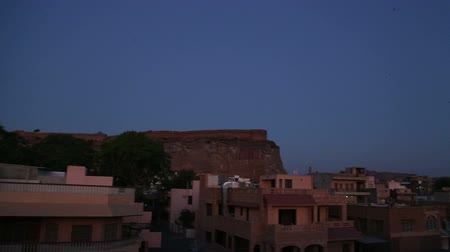 vila : Panoramic view of cityscape in Jodhpur in evening.