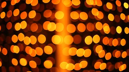 orange background : Flashing Christmas lights background Stock Footage