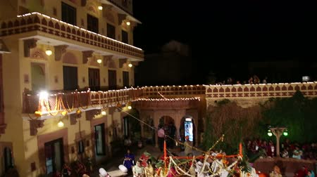 indian ethnicity : Aerial view of traditional hindu wedding in Jodhpur.