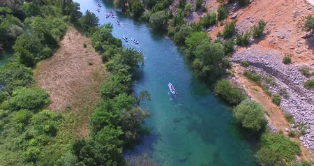 kayak : Aerial view of kayaking on beautiful Zrmanja river, Croatia