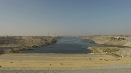 nasser : View of power plant of the Aswan High Dam Stock Footage
