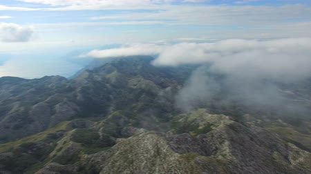 rochoso : Drone view of rocky mountains of Makarska, Croatia