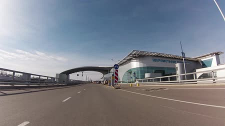 porta : MOSCOW, 19 OCT 2014. Driving thru Sheremetyevo airport. Terminal D, arrival zone ground floor