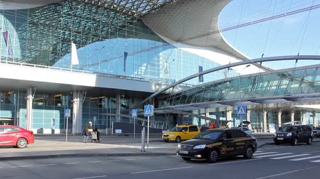 porta : MOSCOW, 19 OCT 2014. Driving thru Sheremetyevo airport. Terminal D, department zone 3d floorMOSCOW, 19 OCT 2014. Driving thru Sheremetyevo airport. Terminal D, department zone 3d floor