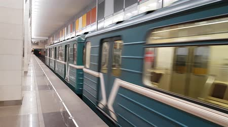 luxúria : FEB 28, 2018, MOSCOW, RUSSIA: New station Salaryevo in Moscow subway. Opened in 2017 on red line.