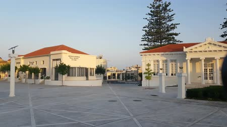 kypr : MAY 23, 2018, PAPHOS, CYPRUS: Paphos Municipal Library building on morning