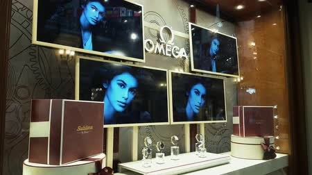 kirakat : JUN 30, 2018, MOSCOW, RUSSIA Omega Store in GUM shopping mall MOSCOW