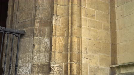 desenli : Ancient patterned masonry of the arch of the Cathedral in Oviedo in Spain