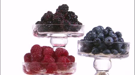 allsorts : assorted berries in tiered trays