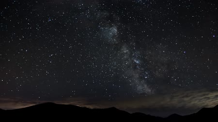 perseids : Time lapse of Milky Way galaxy - stars moving at night - bautiful nature Full HD 1920x1080 Stock Footage