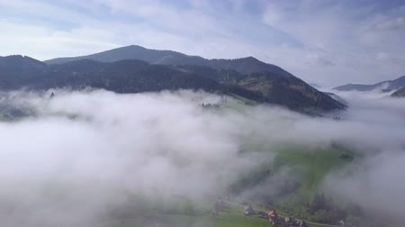 şiş : Morning above clouds Stok Video