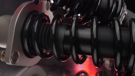 змеевик : Sport suspension Dark Slider shots Стоковые видеозаписи