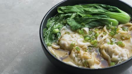 won : Hot chinese wonton noodles soup