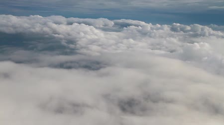 outside view : Flying on the clouds same as the dreams. Stock Footage