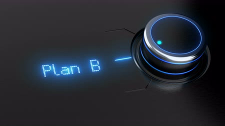 estratégico : Animated switch button with three options plan. Concept business action plan. 4K seamless loop.