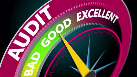 auditing : Audit level indicator of success. 4K business motion concept animation seamless loop.