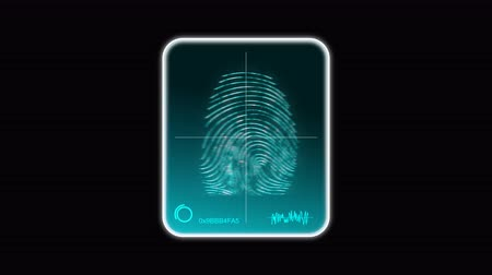 detectives : Fingerprint scan in wearable device. UHD 4K video. Include PNG + Alpha channel.