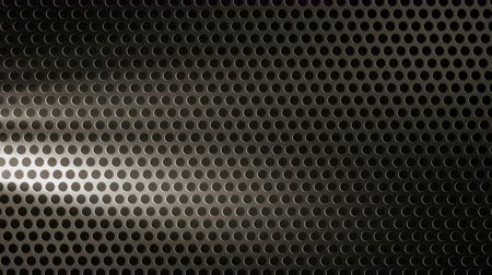 perforation : Perforated black sheet metal with volumetric light. 4K UHD video loop animation background.