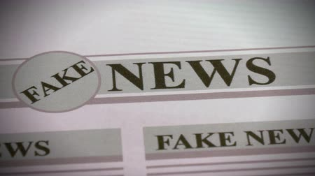 front cover : False news in daily newspapers on Internet and printed media.
