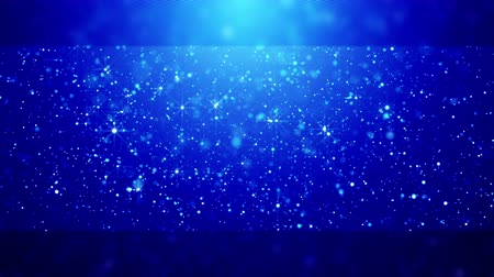 serene : Blue blurred christmas background with sparkling snow. Stock Footage