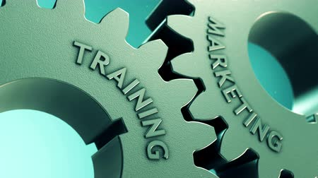 affiliate : Training and Marketing on Gears. Animated presentation of learning and business strategy.