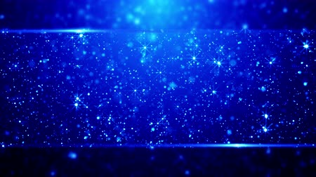 обрамление : Blue blurred Christmas background with sparkling snow.