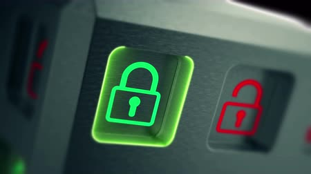 red square : Security of sensitive personal data on Internet. Stock Footage