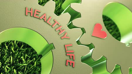 chăm sóc sức khỏe : Healthy life in motion 3D animated metaphor