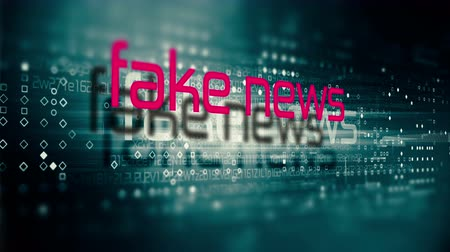 Fake news disinformation concept. Internet social networks and misinformation. 4K UHD animation. Stock Footage