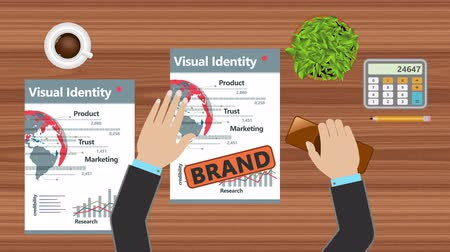 Visual identity. Brand building for success concept animation. Stock Footage